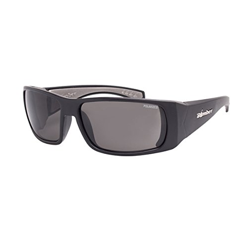 Bomber Pipe Bombs Matte Black with polarized Smoke Lens PB111 (Floating Bomber)