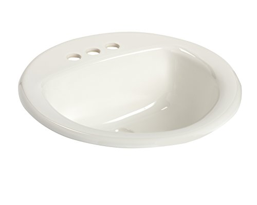 (MANSFIELD PLUMBING PRODUCTS 239-4 Self Rim Lavatory, White)