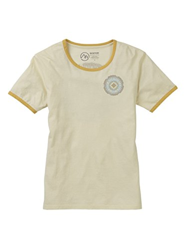 Burton Women's Timkey Short Sleeve Tee, Canvas, Large - Time Ringer T-shirt