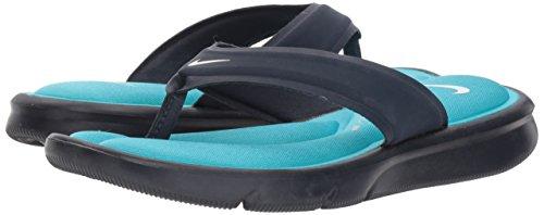 NIKE Women's Ultra Comfort Thong Sandal, Obsidian/White/Chlorine Blue, 8 B(M) US - Image 5