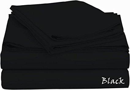 Sheet Set { Luxurious } Super 400- Thread-Count Egyptian Cotton Sleep Quality Sheet Set 4 PC With 12