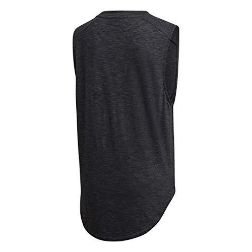 adidas Women's ID Winners Muscle Basketball Long Length Sleeveless Training Tank T-Shirt 3