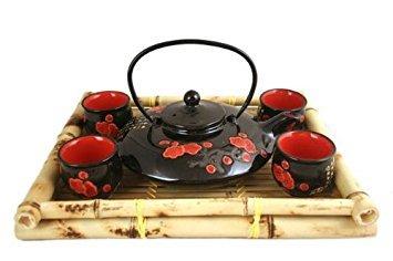 Asian Decor (Contemporary Art Decor Porcelain tea set 5 pcs)