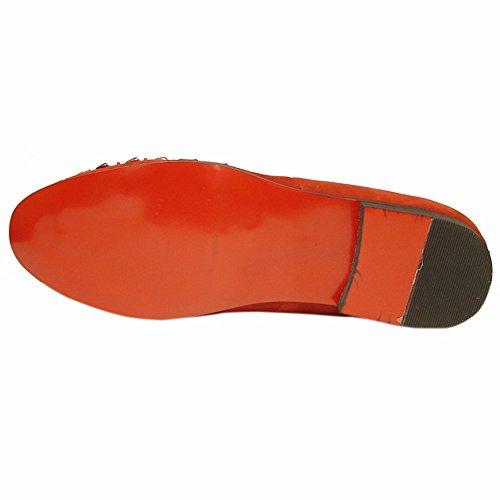 Fiesso Lederen Slip-overs Voor Heren - Loafers Met Leren Bovenkant, Zachte Leren Voering En Zachte Binnenzool Mode Schoen Rood