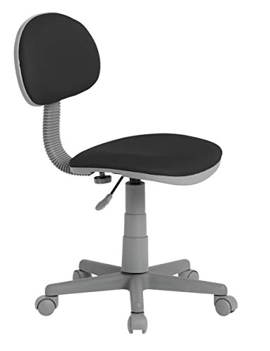 Calico Designs Deluxe Task Chair in Black with Gray base 18509