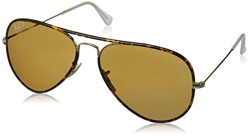 Ray-Ban Full Color Polarized Aviator Sunglasses, Arista, 58 - Ban Aviator Ray Colors