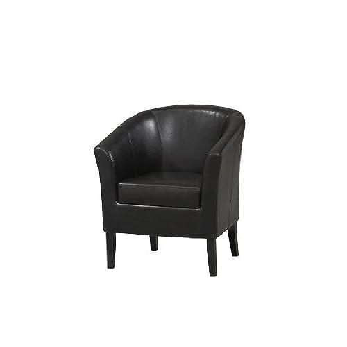 Linon Home Decor Simon Club Chair, Black