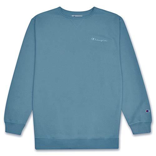 - Champion Mens Big and Tall Vintage Wash Pullover Crewneck Sweatshirt Corn Teal 5X