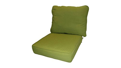 Outdoor Patio Kiwi Deep-Seat Poly-wrapped Foam Cushions, 100 Percent Outdoor Polyester Fabric by Greendale Home Fashions*