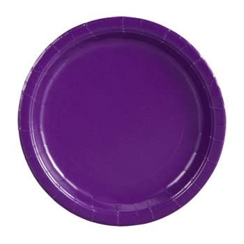 Party Color Paper Plates Purple 9  40 Count  sc 1 st  Amazon.com & Amazon.com: Dark Purple Paper Cake Plates 20ct: Kitchen u0026 Dining