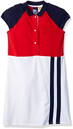 Tommy Hilfiger Girls Adaptive Polo Dress with Magnetic Buttons