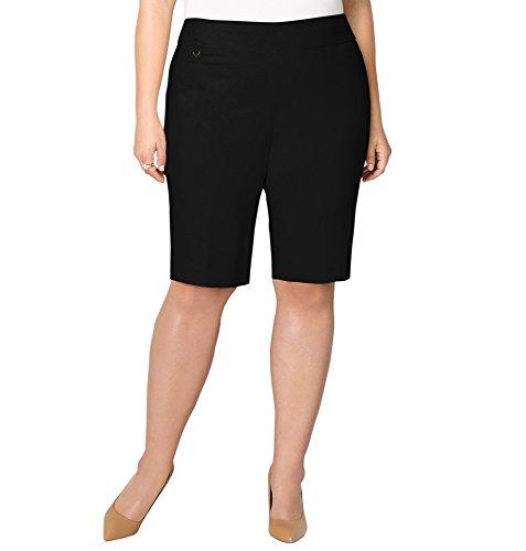 Avenue Women's Super Stretch Pull-On Bermuda Short, 22 Black