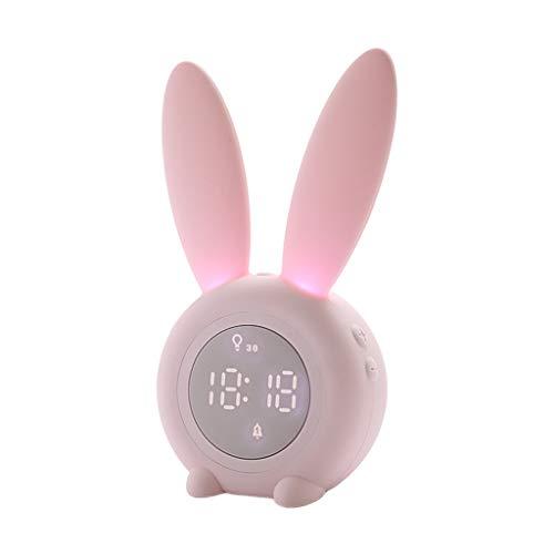 Vdn Bunny kinderwekker, slaaptrainer, klok, nachtlampje voor kinderen