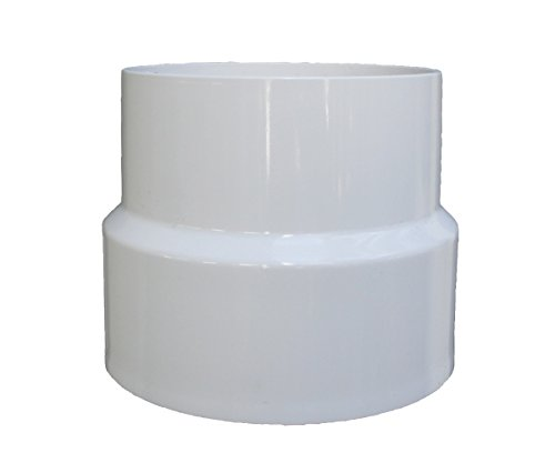 NDS 3P15 PVC DWV to Sewer and Drain Adapter Solvent Weld Fitting, 3-Inch, White