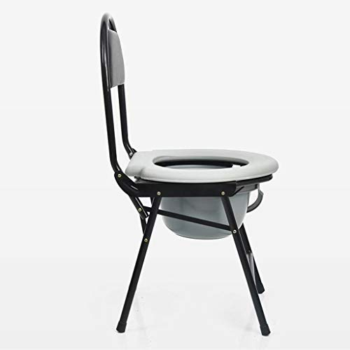 Chooseator Toilet seat, old stool, toilet seat, toilet chair, convenient chair, stainless steel folding, multi-purpose chair 24' Scooped Seat Stool