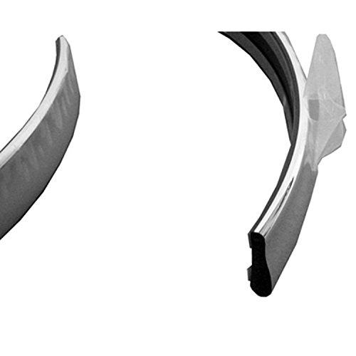 Chrome FO1157232 Rear Bumper Impact Strip for 95-97 Lincoln Town - Chrome Strip Rear