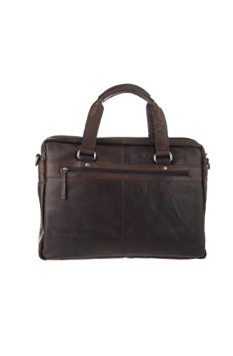 Spikes and Sparrow 7000301 Marshall Business Bag, Dark Brown by Spikes & Sparrow