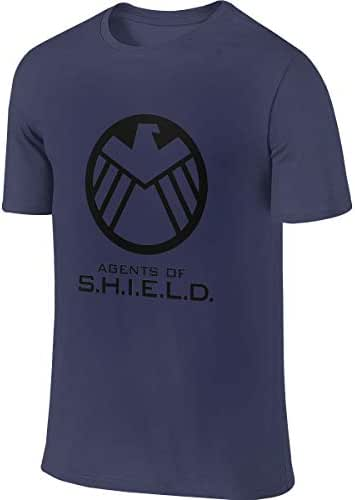 SHENGN Men Customized Breathable Tops Agents of Shield Logo Tshirts