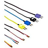 Martel J, K, T, E Thermocouple Wire Kit with Mini Plugs for PTC-8010, MC-1010, TC- 100, MC-1210, DMC-1410, 3001, MasterCAL 990