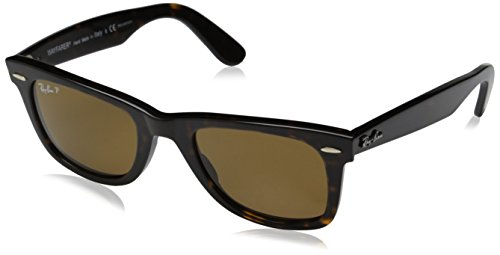 Ray-Ban RB2140 Original Wayfarer Icons Polarized Sunglasses, Tortoise/Brown, - Sunglasses 50mm Size
