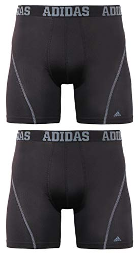 5da3c0151bb7 adidas Men's Sport Performance Climacool Boxer Briefs Underwear (2-Pack),  Black/