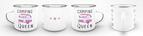 31yPgj0BJ0L Tassendruck Emaille Tasse Camping lustig - Geschenk zum Camping/Tasse für Coole Camper/Geschenk-Idee Campingfreunde…