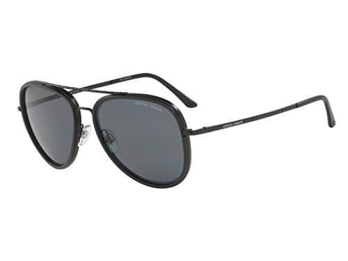 Giorgio Armani Mens Sunglasses (AR6039) Black Matte/Grey Metal - Polarized - - Armani Sunglasses Giorgio
