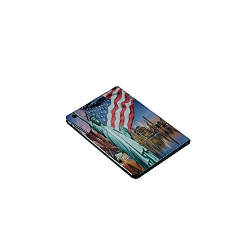 3D Printed iPad Mini1/2/3Case,Concept Collection Statue of Liberty NYC Cityscape, [Auto Wake/Sleep Function] Magnetic Closure Flip Anti-Scratch Shell Compatible with Apple iPad Mini123(7.9 ()