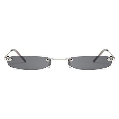 Armear Fashion Rimless Extra Small Rectangle Sunglasses Black Lens 51mm