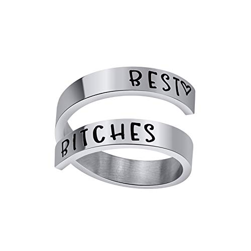 Friendship Ring Sister Jewelry-Best Bitchs-Best Friends Ring