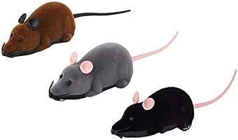 EdBerk74 Control Remoto inalámbrico Ratón Simulación de plástico Animales Rata electrónica Divertido Movimiento Ratones Juguete Mascota Gato Juguete: Amazon.es: Productos para mascotas