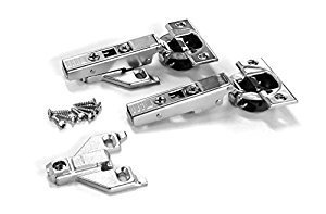 (Blum CLIP top BLUMOTION Soft-Close Hinges, 110 degree, Self closing, Face Frame, with Mounting Plates (Full Overlay - 2 pack) )