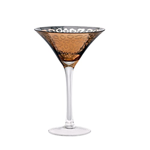 - Artland 51132B Leopard Martini Glass, 8 oz, Gold, Set of 4