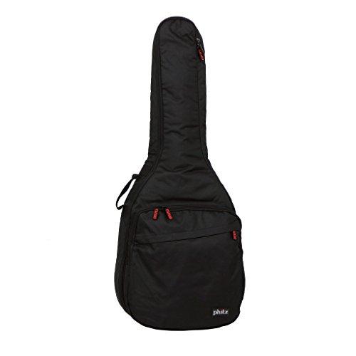 Phitz Standard Size Acoustic Guitar Case, Black - PH12988FSA