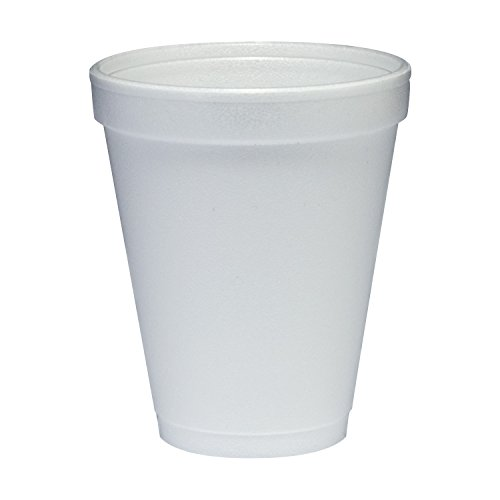 Dart Container Corp. 10J10 Foam Cups, 10 oz, White (Pack of 1000)