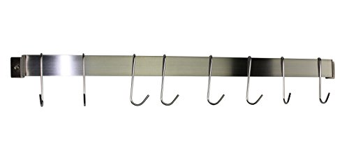 Enclume® Rack It Up NEW 32'' Easy Mount Wall Rack Utensil Bar w 8 Hooks Stainless Steel by Enclume®