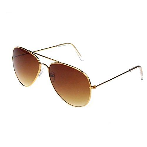 Femmes Hommes Été Glasses, Unisex Mode Anti UV400 aviateur lunettes de soleil par Reaso (Gris + Noir)