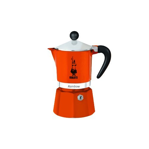 Bialetti 4992 Rainbow Espresso Maker, Orange