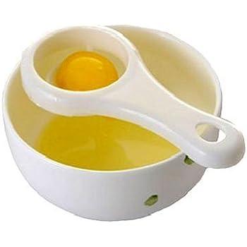 Potelin Egg Yolk White Separator Plastic Kitchen Filter Convenient Divider Tool