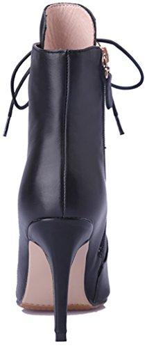 Arraysa Women Abaad 9CM Self-Tie Stiletto Boots Black Gq91f7q