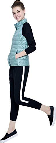 Donna Alto Hot Eleganti Accogliente Moda Casual Piumino A Gr Fit Con Invernali Laterali Slim Trapuntato Canottiera Cerniera Smanicato Autunno Outerwear Grazioso Tasche Gilet Monocromo Collo uTwiPlkZOX