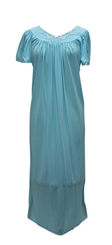 ise Miss Elaine Women's 100% Tricot Long Sleep Gown 1XL (Miss Elaine Long Gown)