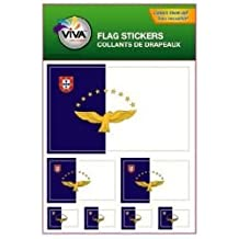 AZORES ACORES COUNTRY FLAG COLLECTION OF 7 DIFFERENT SIZE DECAL STICKERS .. NEW IN PACKAGE