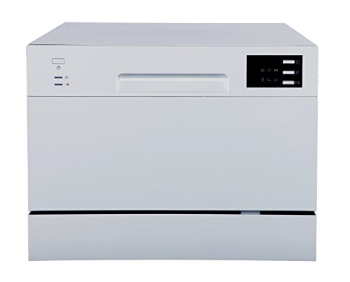 SPT SD-2225DS Countertop Dishwasher with Delay Start & LED, Silver, Silver