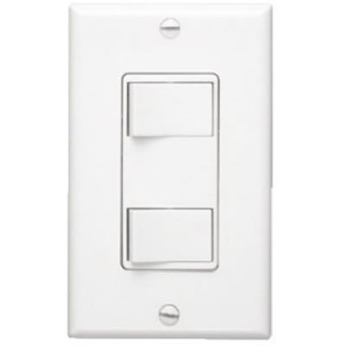 NuTone 68W Multi-Function Wall Control for Ventilation Fans, White Broan Two Function Controls