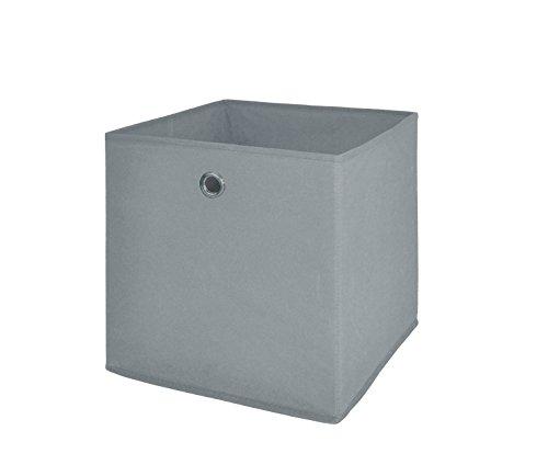 Möbel Akut Faltbox 4er Set in schlamm grau, Aufbewahrungsbox für Raumteiler oder Regale