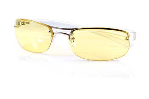 FBL Semi-Rimless Color Tinted Clear Arm Eyeglasses Wrap Sunglasses A218 (Yellow)
