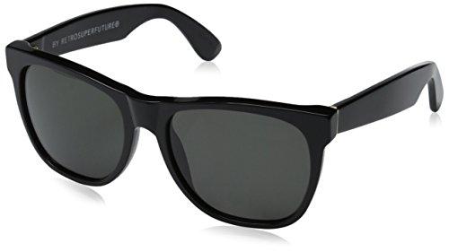 Super-002 Unisex Classic Black Shiny - Sunglasses Super Retrosuperfuture