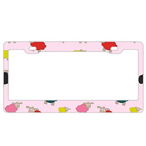 - Hopes's Personalized License Plate Abstract Lamb Pattern Background Front License Plate