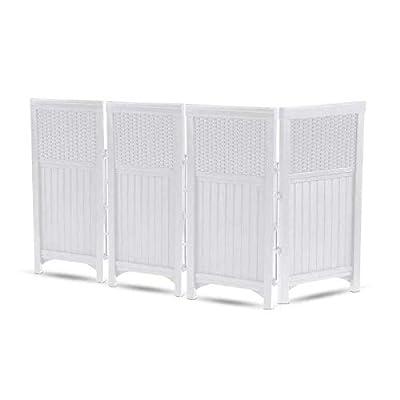 Suncast FSW4423SW Garden Outdoor Screen Enclosure Gate- White